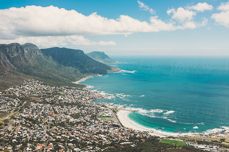 Camps Bay and the coastline in Cape Town by Micky Wiswedel for Stocksy United