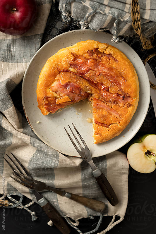 Decadent Baked Apple and Bacon Pancake by Studio Six for Stocksy United