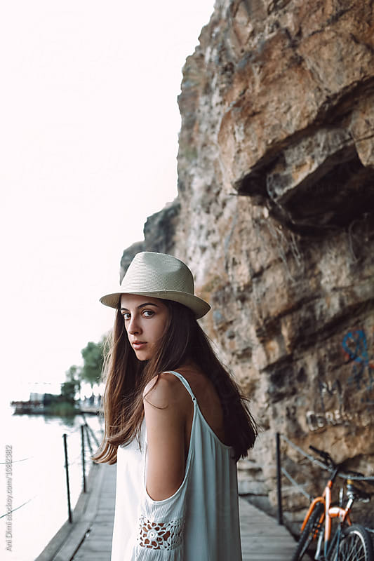 Female tourist by Ani Dimi for Stocksy United