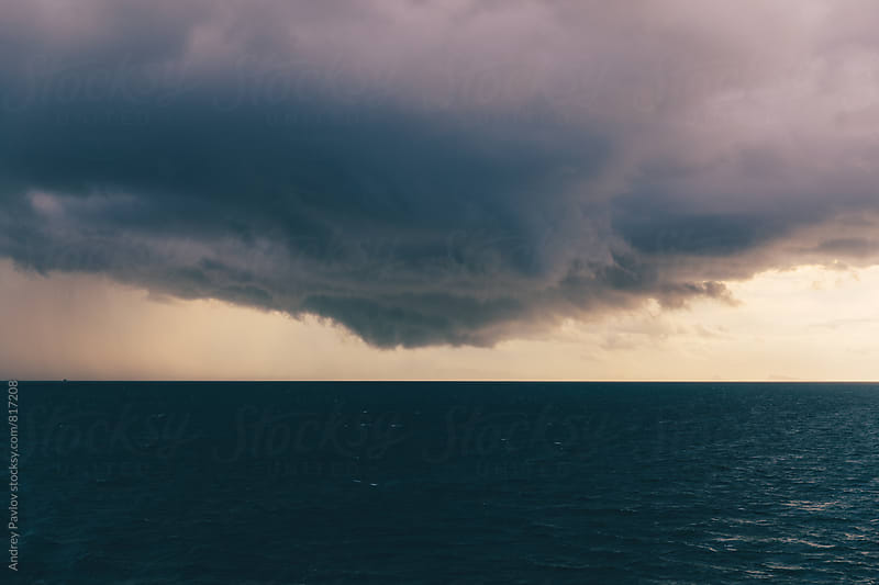 Scenic seascape with storm-cloud by Andrey Pavlov for Stocksy United