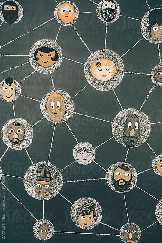 Network illustration by Blai Baules for Stocksy United