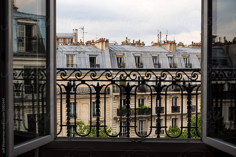 View of Apartment Buildings in Paris by Jeff Wasserman for Stocksy United