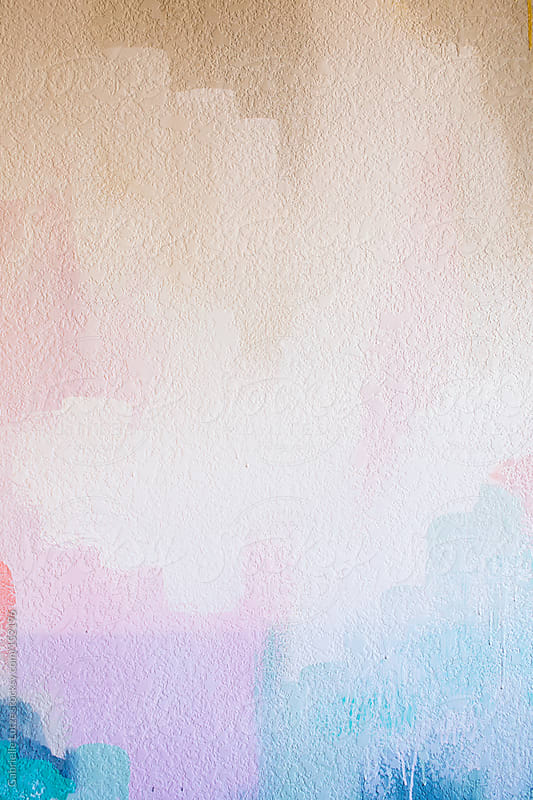 Pastel Painted Wall by Gabrielle Lutze for Stocksy United