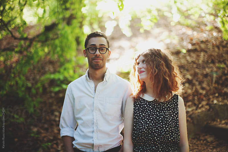 Young Adult Couple in Nature by Kevin Russ for Stocksy United