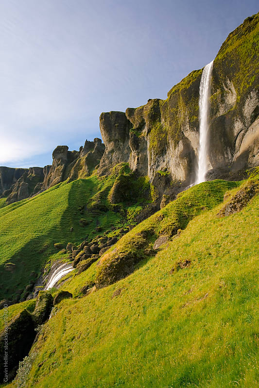 Iceland, southern Iceland, Foss, Foss a Siou Falls by Gavin Hellier for Stocksy United