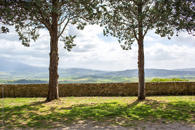 Panoramic viewpoint in Pienza, Tuscany. by michela ravasio for Stocksy United