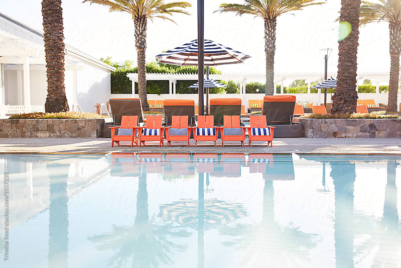 Kiddie Swimming pool at luxury resort/hotel by Trinette Reed for Stocksy United