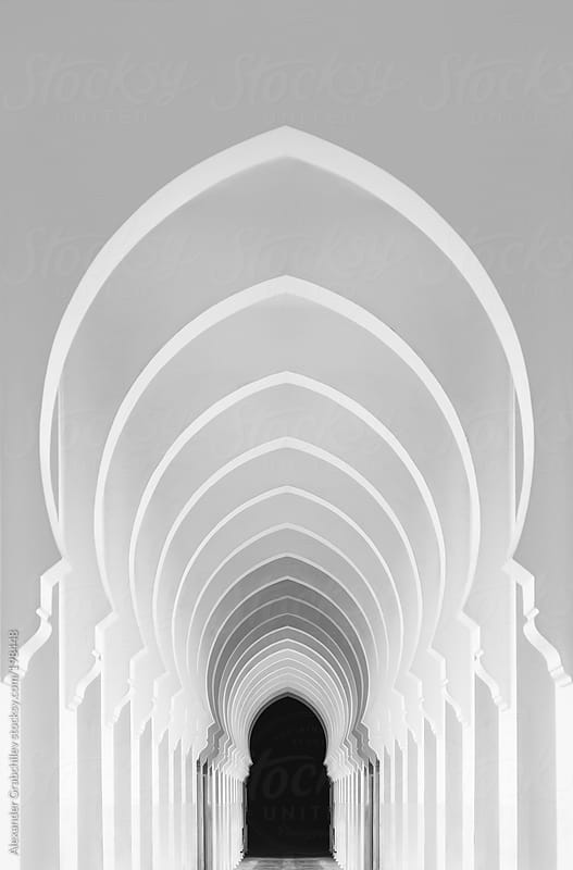 Corridor Of An Islamic Building by Alexander Grabchilev for Stocksy United