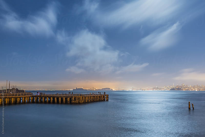 San Francisco Bay illuminated by Moonlight by Chris Chabot for Stocksy United
