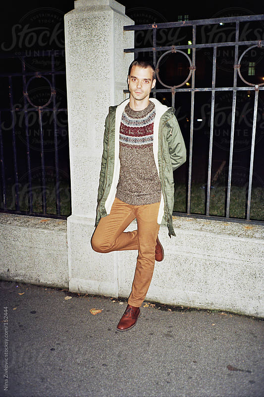 A young man in the street. by Nina Zivkovic for Stocksy United