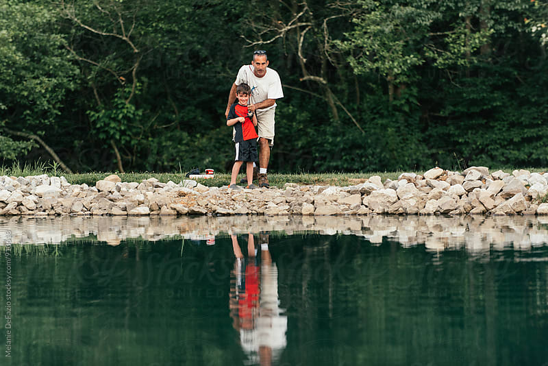 Fishing by Melanie DeFazio for Stocksy United