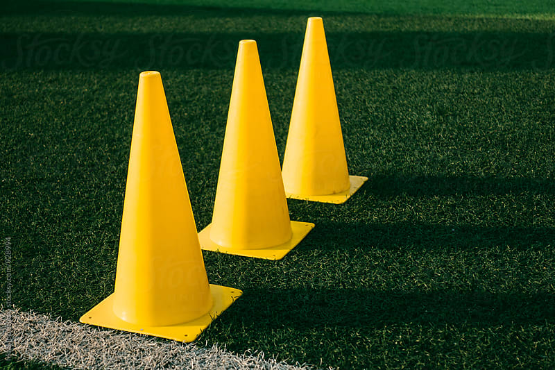 Cone on football field by MaaHoo Studio for Stocksy United