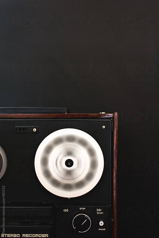 Vintage reel-to-reel tape recorder by Pixel Stories for Stocksy United