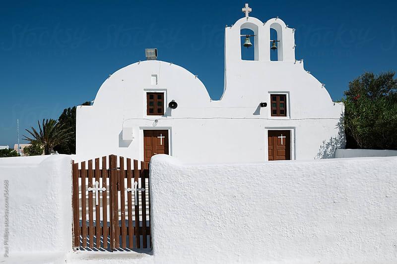White church, Oia, Santorini by Paul Phillips for Stocksy United