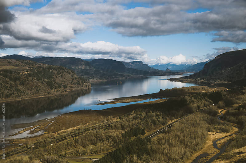 Majestic view from the Vista House in Corbett, Oregon by Rachel Bellinsky for Stocksy United