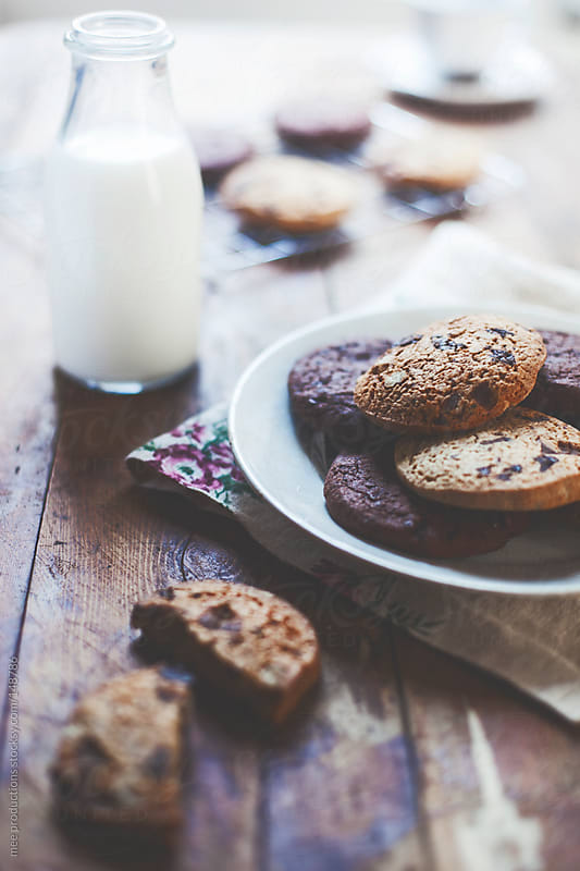 Cookies bakery and milk by mee productions for Stocksy United
