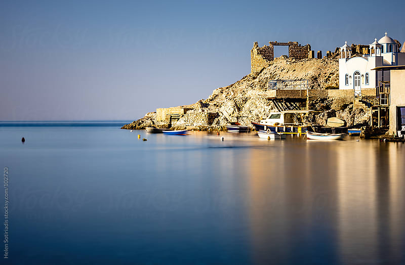Greek Seaside Town (resubmitted with some people removed) by Helen Sotiriadis for Stocksy United