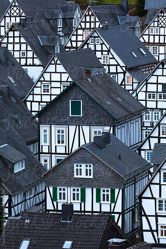 Half-timbered Houses in Freudenberg, Germany by Tom Uhlenberg for Stocksy United