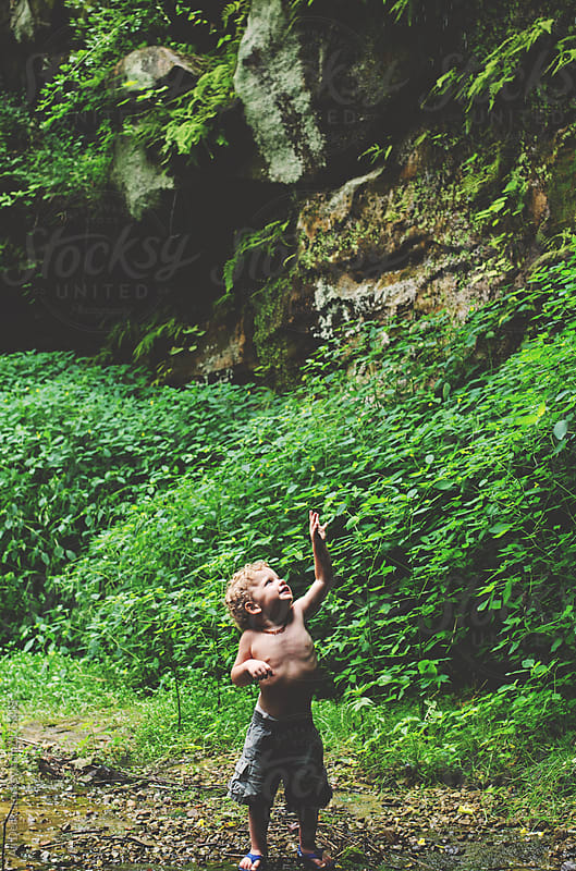 Toddler and Ivy by Ali Deck for Stocksy United