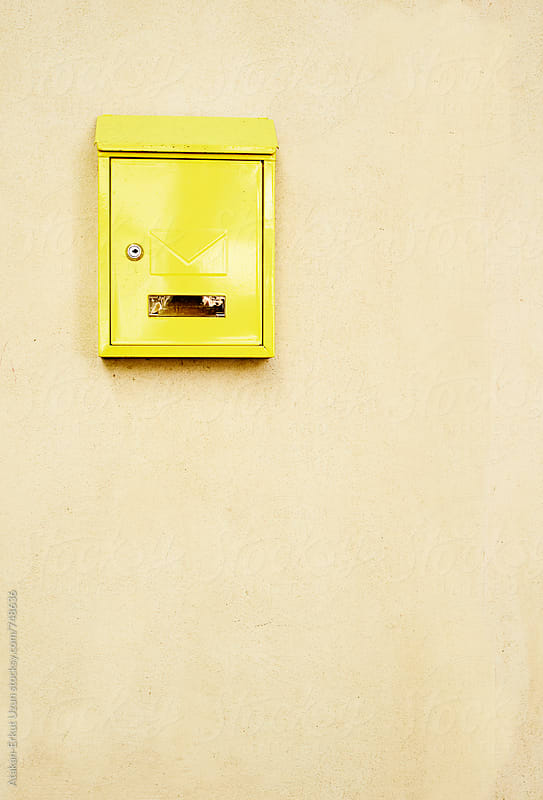 Yellow letter box by Atakan-Erkut Uzun for Stocksy United