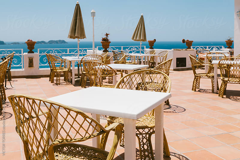 Restaurant with Sea Views by VICTOR TORRES for Stocksy United