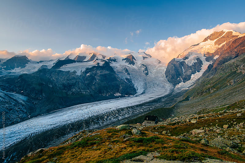 Panorama of Morteratsch glacier  by Peter Wey for Stocksy United