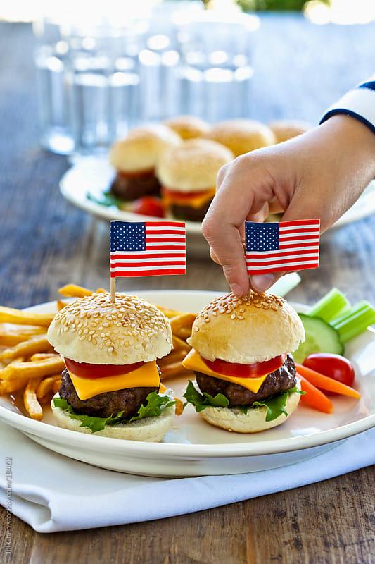Mini Cheeseburgers by Jill Chen for Stocksy United