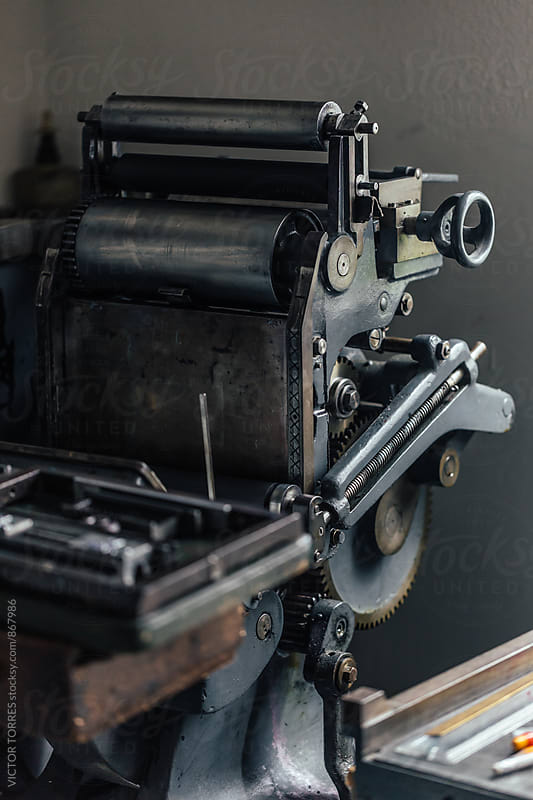 Old Printing Machine by Victor Torres for Stocksy United