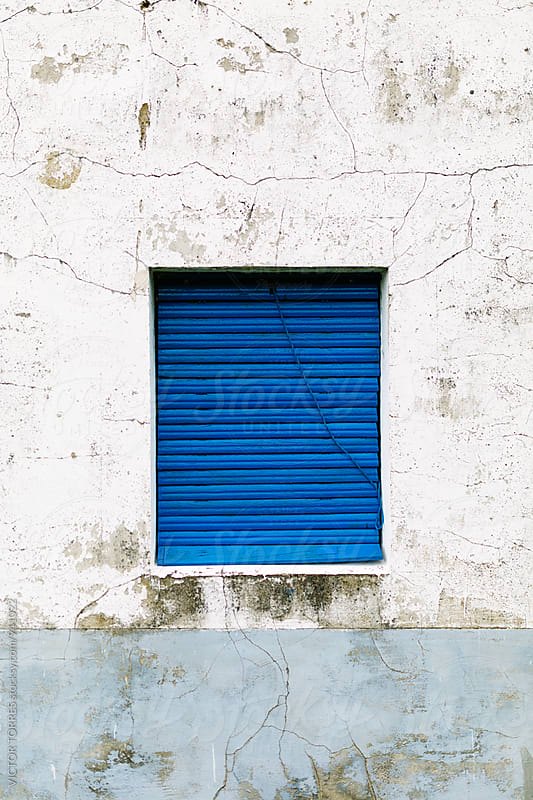 Blue Window in a Rural House by Victor Torres for Stocksy United