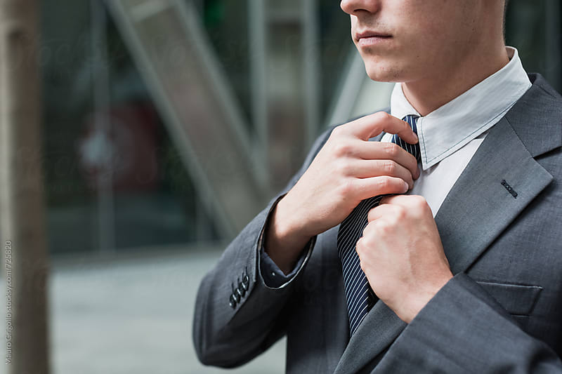 Young businessman in the City by Mauro Grigollo for Stocksy United