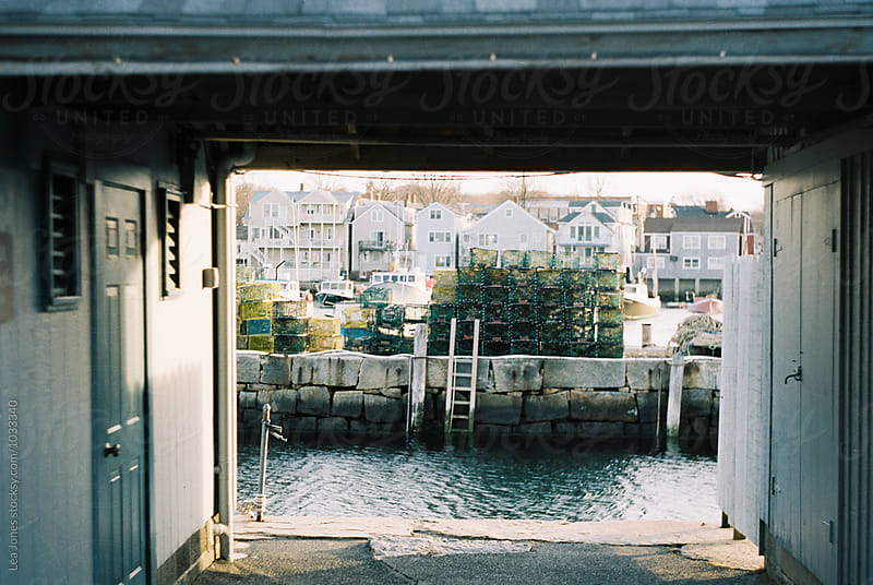 view of a lobster fishing post by Léa Jones for Stocksy United