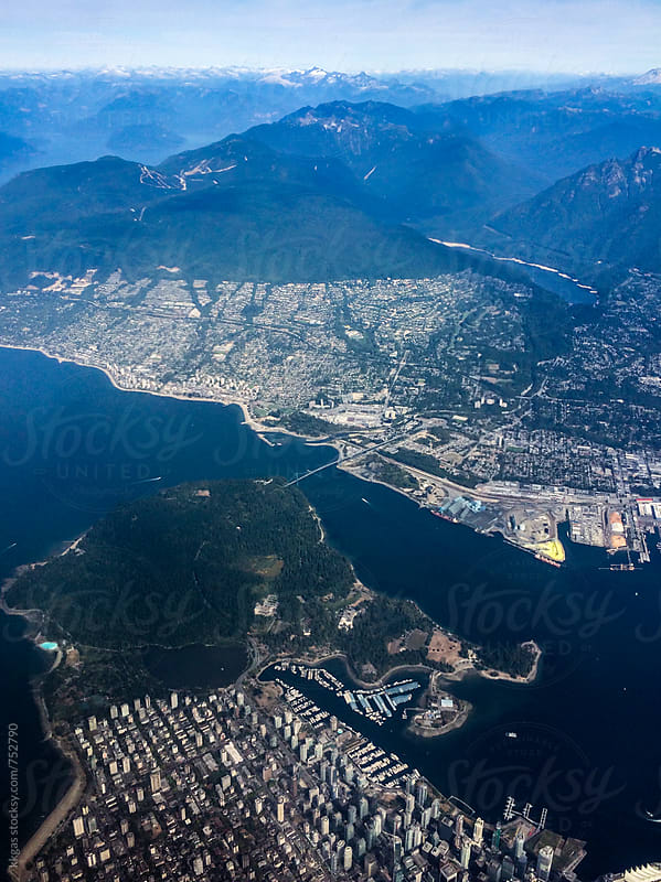 Vancouver from the air. by kkgas for Stocksy United