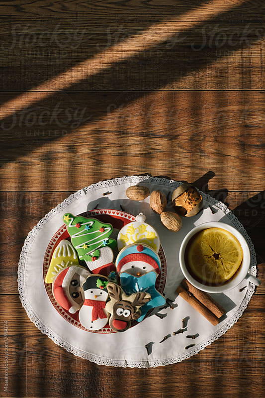 Christmas Cookies and Tea by Mosuno for Stocksy United