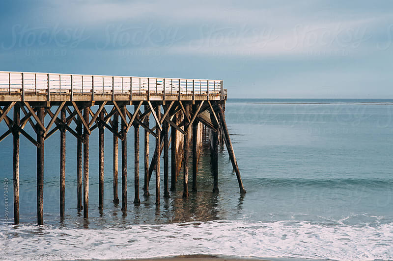Pier in Big Sur by Kayla Snell for Stocksy United