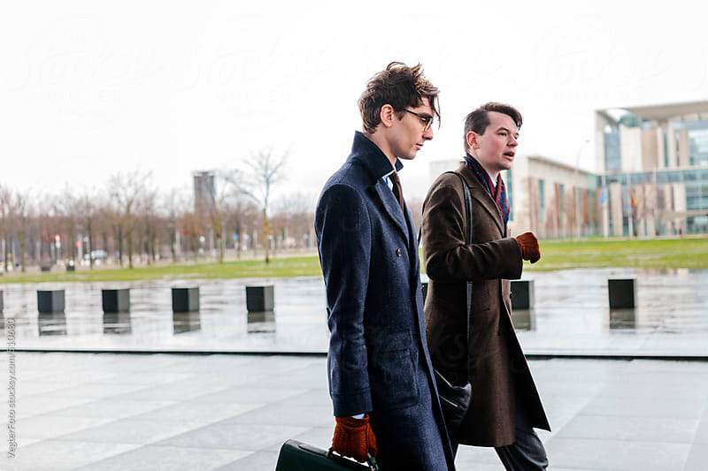 Businessmen on their way to meeting by VegterFoto for Stocksy United