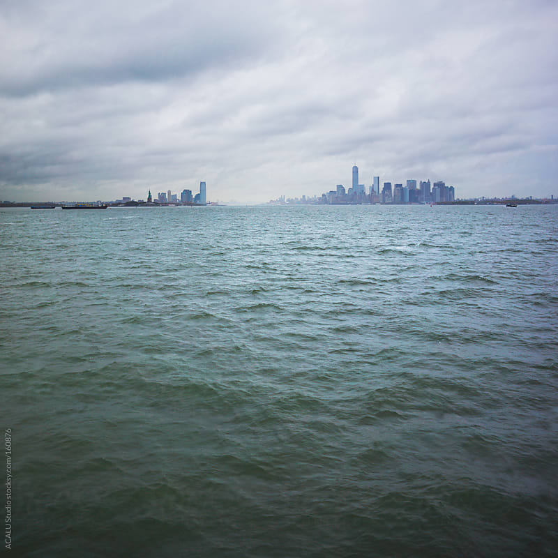 Skyline from the ferry to Staten Island by ACALU Studio for Stocksy United
