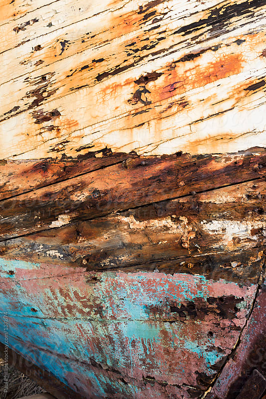 Weathered bow of an old fishing boat by Paul Phillips for Stocksy United