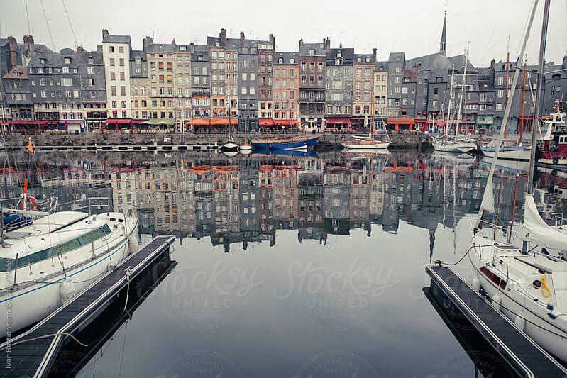 Honfleur harbor in Normandy, France by Ivan Bastien for Stocksy United