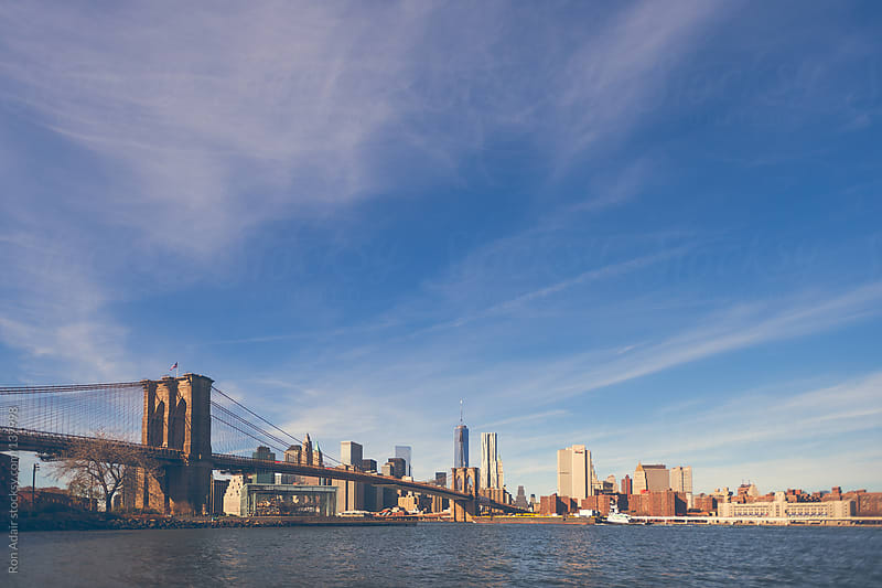 Morning view of Brooklyn Bridge in New York City by Ron Adair for Stocksy United