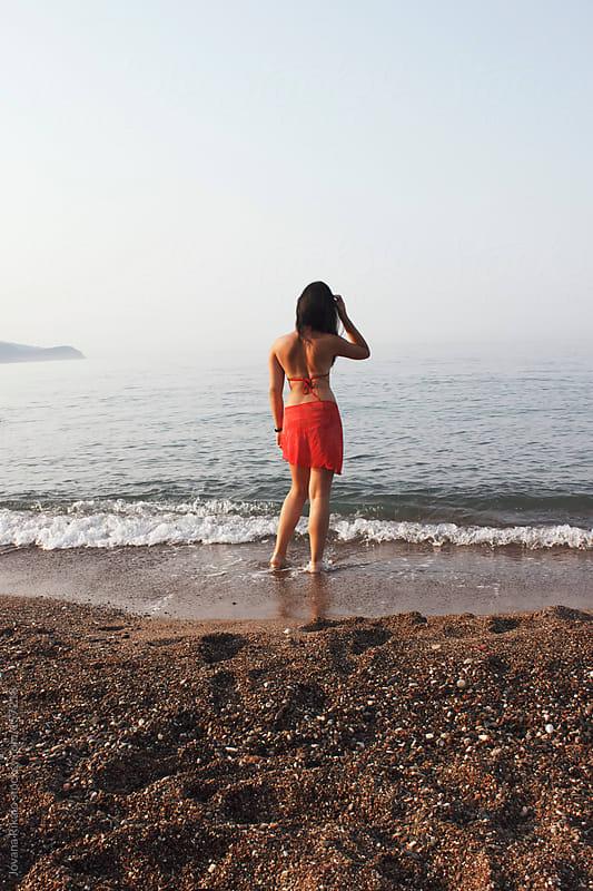 Girl on the beach by Jovana Rikalo for Stocksy United