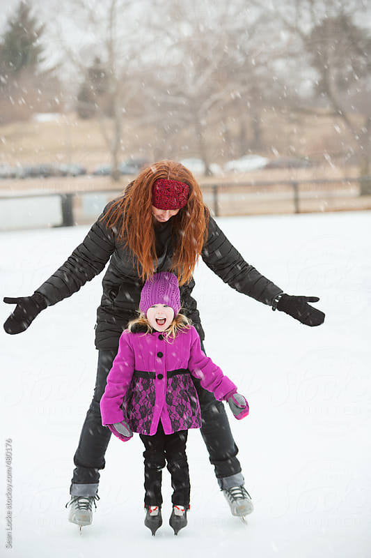 Skating: Little Girl Skates By Herself For First Time by Sean Locke for Stocksy United
