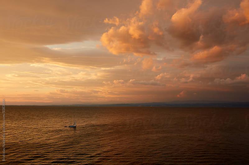 Sunset on seaside by Bratislav Nadezdic for Stocksy United