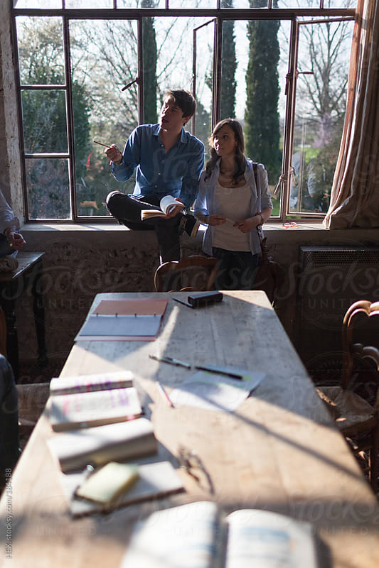 Friends Study Together at Home by HEX. for Stocksy United