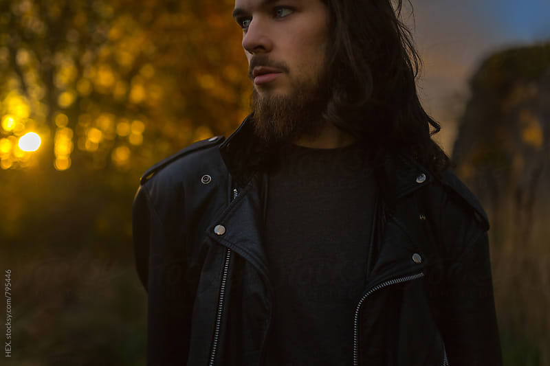 Man Portrait in Autumn Mood by HEX . for Stocksy United