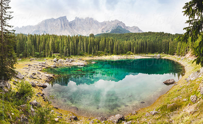 Stunning Lake in the Dolomite Mountains, Italian Alps by Giorgio Magini for Stocksy United