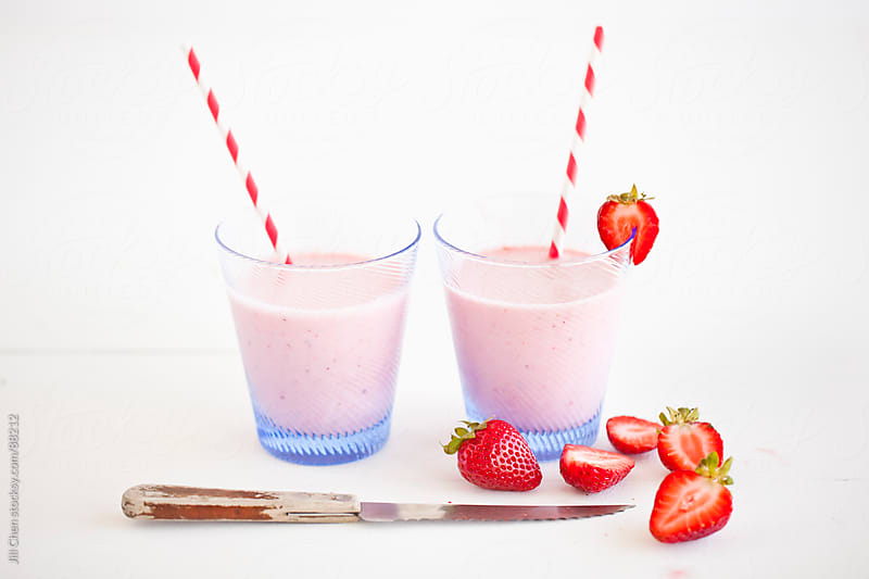 Strawberry Smoothies by Jill Chen for Stocksy United