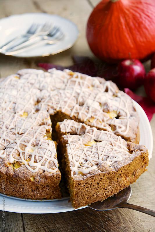 Pumpkin apple cake by Harald Walker for Stocksy United