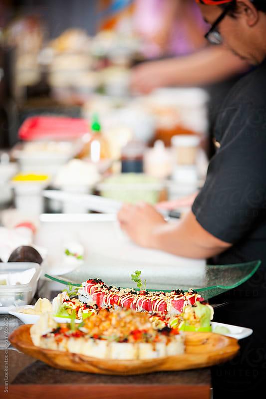 Sushi: Focus on Spicy Tuna Sushi Roll by Sean Locke for Stocksy United