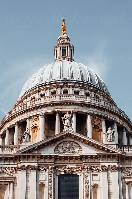 St. Paul's Cathedral in London   by Katarina Radovic for Stocksy United