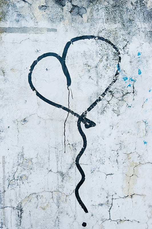 Spray Painted Heart by Bruce and Rebecca Meissner for Stocksy United